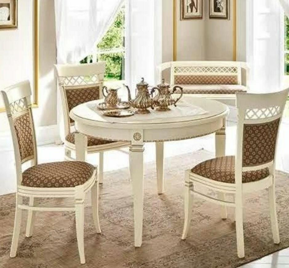 Стол круглый раздвижной Palazzo Ducale laccato 71BO54 (УЦЕНКА) купить по лучшей цене в Rattan&Wood
